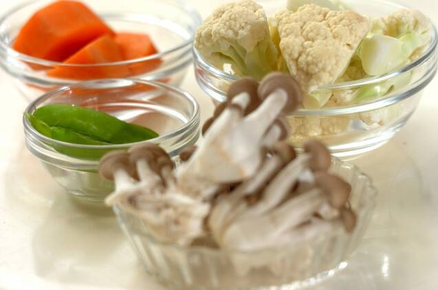 ゴマダレ温野菜の作り方の手順1