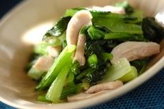 鶏と小松菜の炒め物