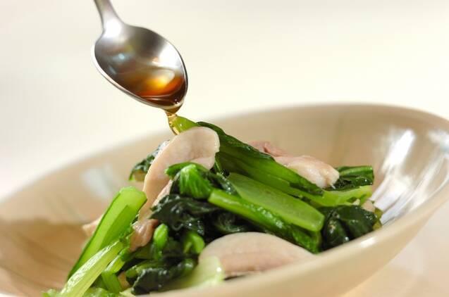 鶏と小松菜の炒め物の作り方の手順5