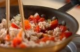 ガパオライス風丼の作り方2