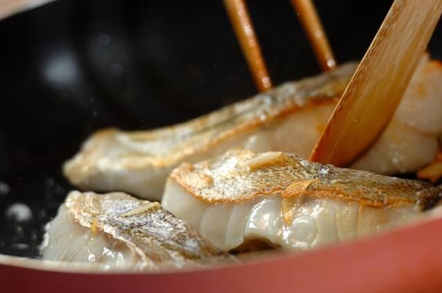 白身魚とアサリのワイン蒸しの作り方の手順3