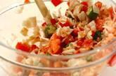 トマトとオクラのコールスローの作り方2