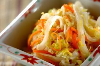 白菜の即席漬け ユズコショウ風味