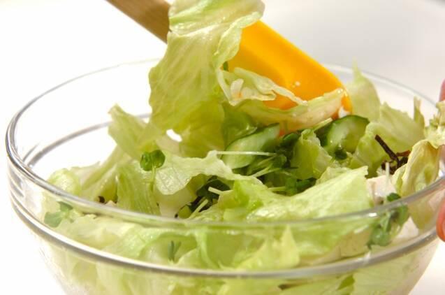 豆腐の満足サラダの作り方の手順3