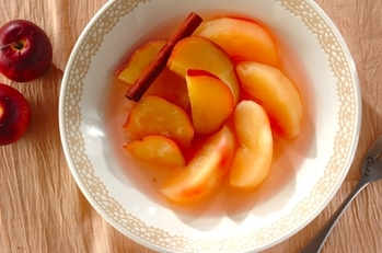 サツマイモとリンゴのコンポート