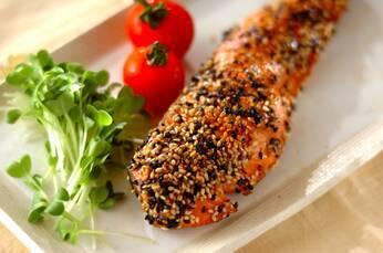 鮭の香ばしゴマ焼き