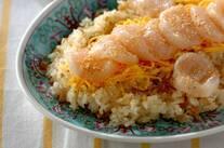 ホタテの中華風ちらし寿司