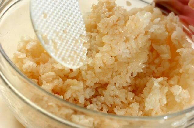 シンプルに。ホタテの中華風ちらし寿司の作り方の手順4