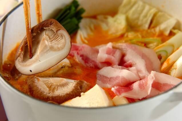 豆乳キムチ鍋の作り方の手順5