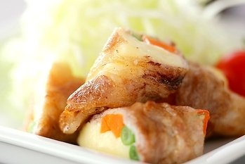 豚肉のロール焼き