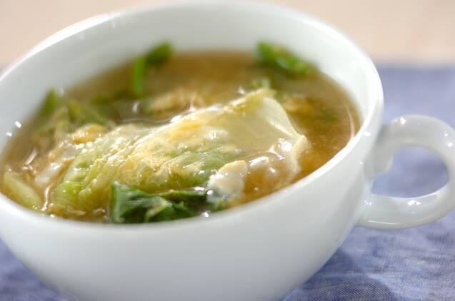 レタスのかき玉スープ