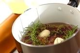 レバーのコンフィバルサミコしょうゆ漬けの作り方1