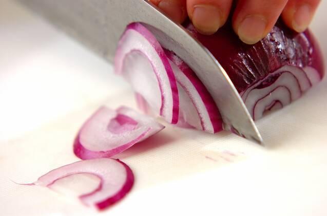 お刺身サラダの卵黄ソースの作り方の手順1