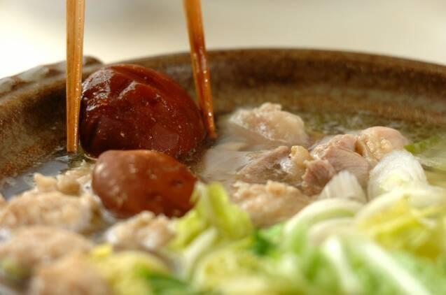鶏鍋の作り方の手順6