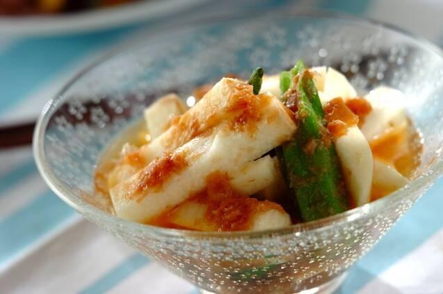 ネバとろの絶妙コンビ♪「オクラと長芋の梅肉和え」のレシピの画像