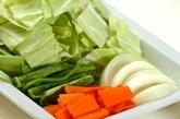 ニンニク・ショウガしょうゆを使った肉野菜炒めの下準備4