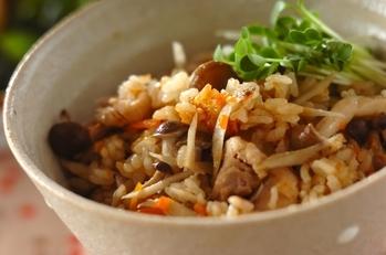 鶏ゴボウの炊き込みご飯
