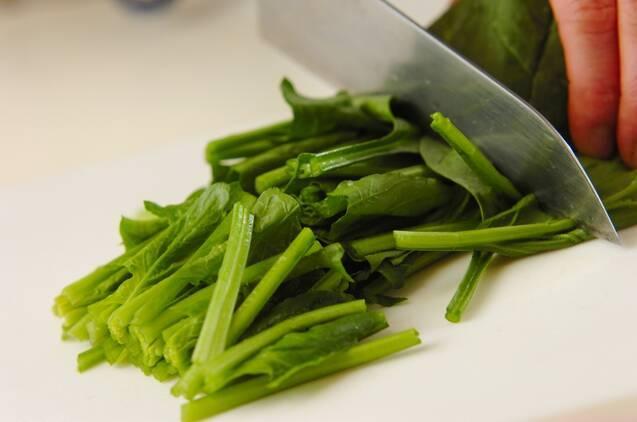 ホウレン草のソテーの作り方の手順1