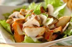 鶏と野菜のソテーサラダ