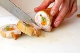 チキンロールの甘辛煮の作り方4