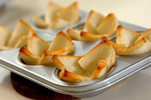 食パンカップDEシーザーサラダの作り方の手順5