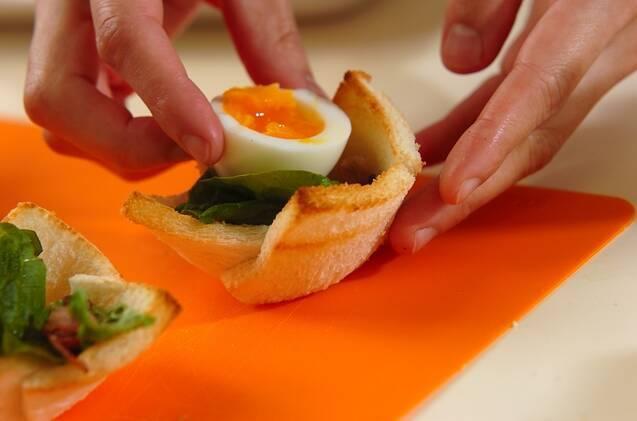 食パンカップDEシーザーサラダの作り方の手順6