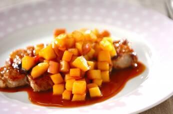 豚肉のシャキシャキリンゴソース