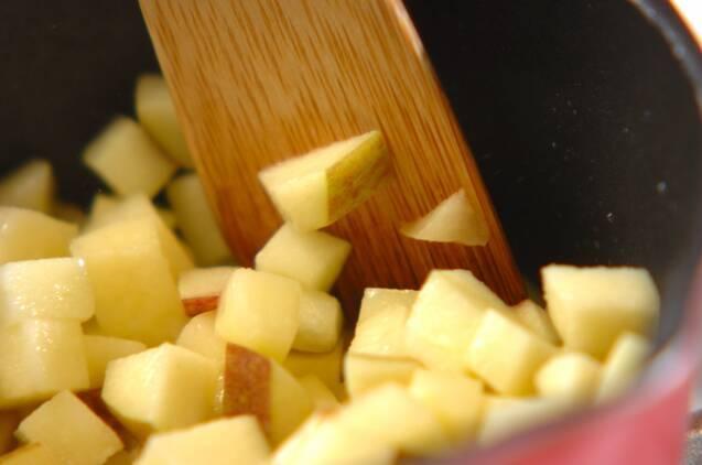 豚肉のシャキシャキリンゴソースの作り方の手順2