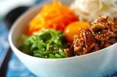 牛肉のナムル丼