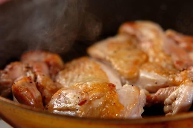 鶏肉のソテー・ブルーベリーソースの作り方の手順4