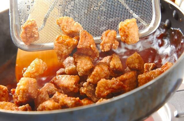 黒酢酢豚の作り方の手順11