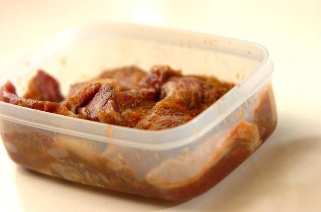ピリ辛漬けカルビの作り方の手順2