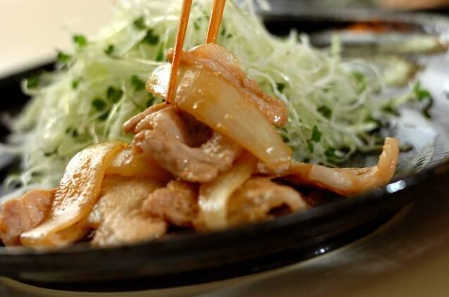 乳酸菌で旨みアップ、豚のショウガ焼きの作り方の手順4