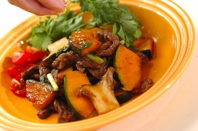 牛肉とカボチャのピリ辛炒めの作り方の手順12
