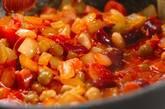 ミックスビーンズとソーセージのトマト煮の作り方3