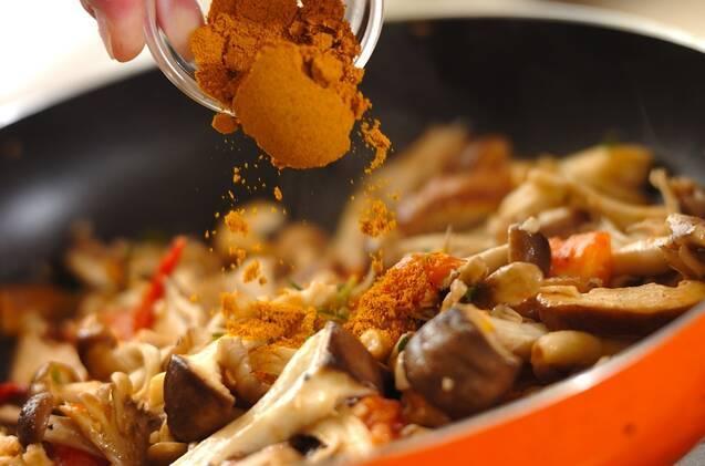 常備菜にぴったり!キノコのスパイシーソテーの作り方の手順5