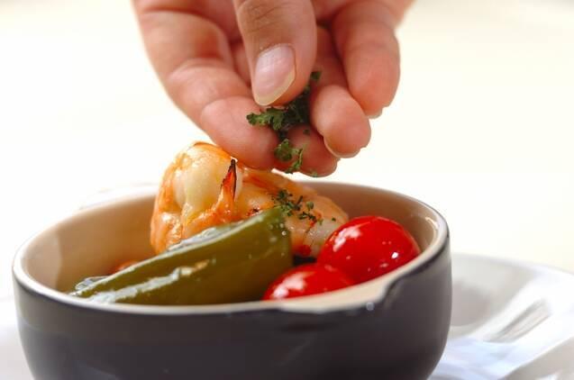 エビとピーマンのオイル煮の作り方の手順5