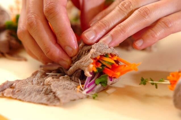 ロールビーフサラダの作り方の手順5