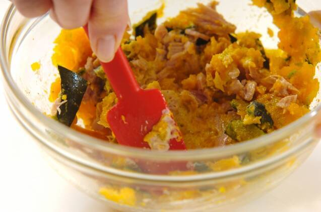 カボチャとツナのゴマ焼きの作り方の手順2