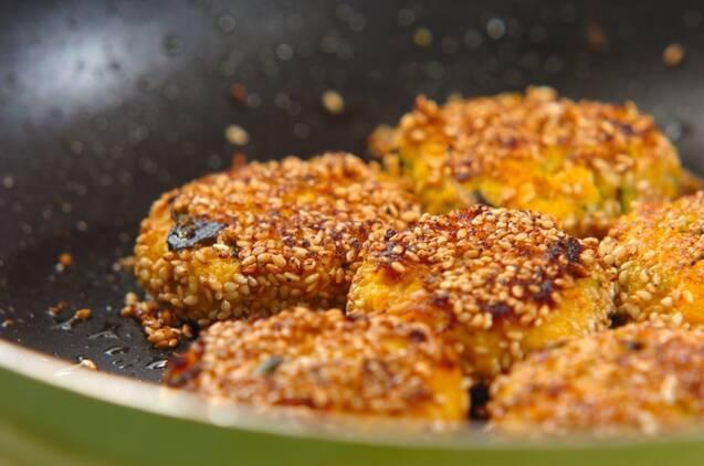 カボチャとツナのゴマ焼きの作り方の手順4