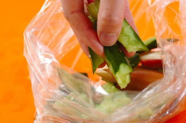 キュウリとミョウガの甘酢の作り方の手順3