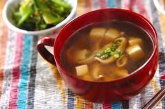豆腐と干しシイタケのスープ