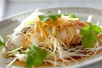 レンジで鯛の中華蒸し