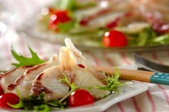 鯛の取り分けサラダ仕立て
