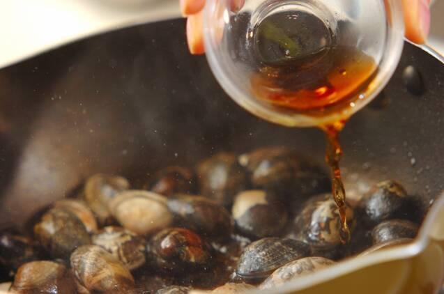 アサリと豆腐の紹興酒蒸しの作り方の手順3