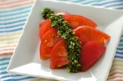 冷やしトマトのニラダレ