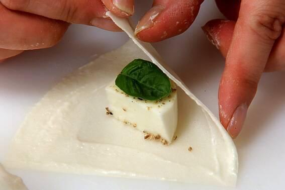 モッツァレラサモサ揚げの作り方の手順5