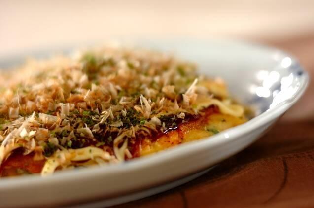 野菜で作るお好み焼き