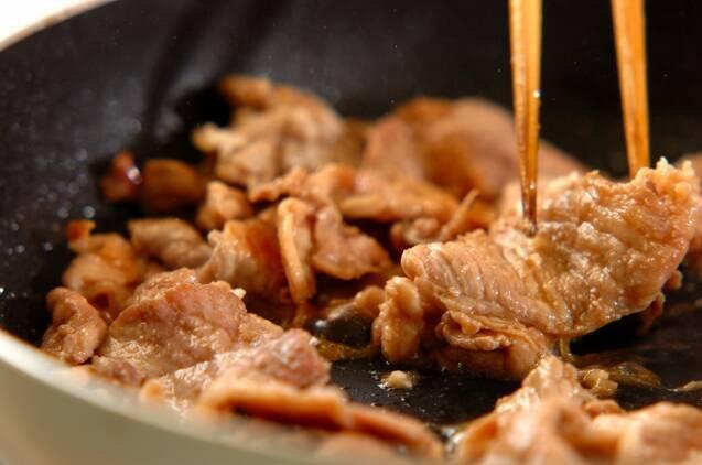 豚とキャベツのオイスター炒めの作り方の手順3