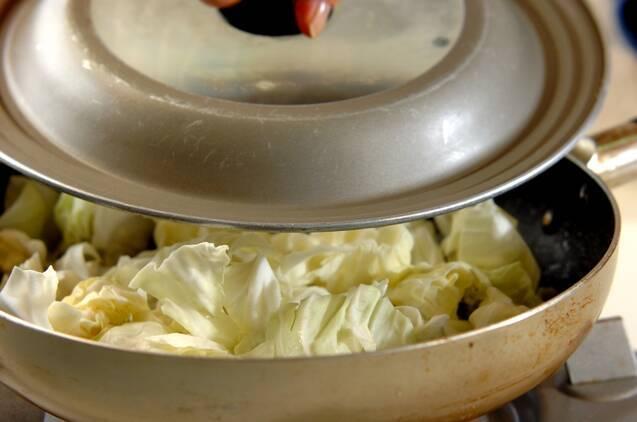 豚とキャベツのオイスター炒めの作り方の手順4